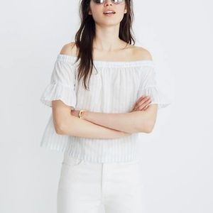 Madewell Striped Off-the-Shoulder Top (xs)